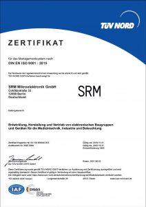TÜV Nord Zertifikat SRM Mikroelektronik